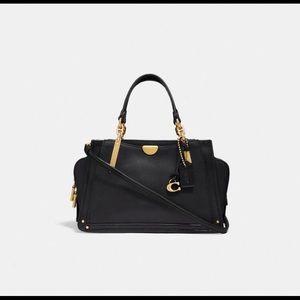 Coach Dreamer 21 Bag Black Smooth Leather